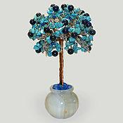 Цветы и флористика handmade. Livemaster - original item Turquoise and lapis lazuli tree