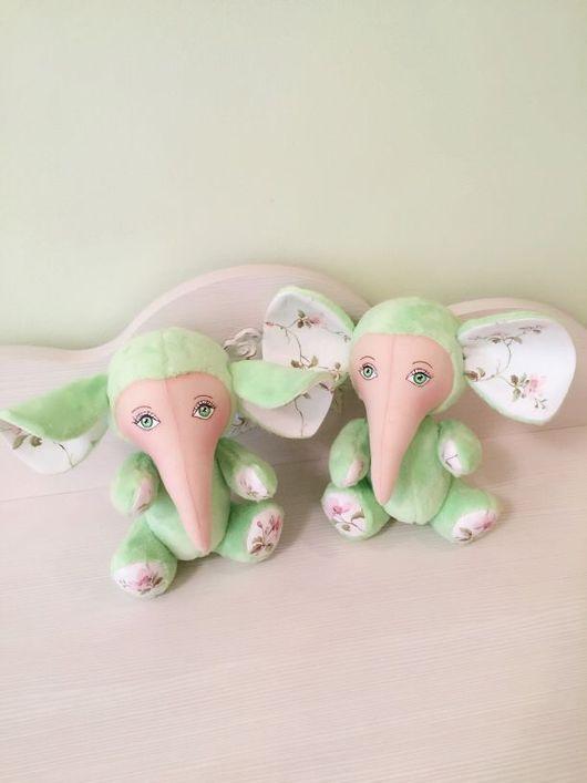 """Куклы и игрушки ручной работы. Ярмарка Мастеров - ручная работа. Купить Плюшевый """"Зелёный слоник"""". Handmade. Зеленый слон, подарок"""