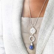 Украшения handmade. Livemaster - original item Blue sodalite pendant on a chain - light pendant with stone. Handmade.