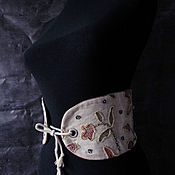 Аксессуары handmade. Livemaster - original item Belt: EMBROIDERED CORSET BELT WIDE. Handmade.