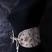 Belt handmade. Livemaster - original item Belt: EMBROIDERED CORSET BELT WIDE. Handmade.