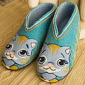 Slippers handmade. Livemaster - original item Children`s felted Slippers