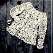 """Одежда ручной работы. Ярмарка Мастеров - ручная работа Вязаная кофточка"""" Ваниль"""". Handmade."""