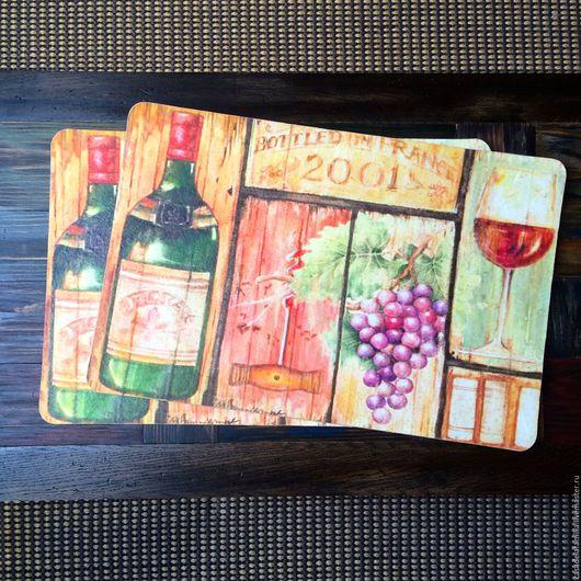 """Кухня ручной работы. Ярмарка Мастеров - ручная работа. Купить Подставки под тарелки """"Вино и виноград"""". Handmade."""