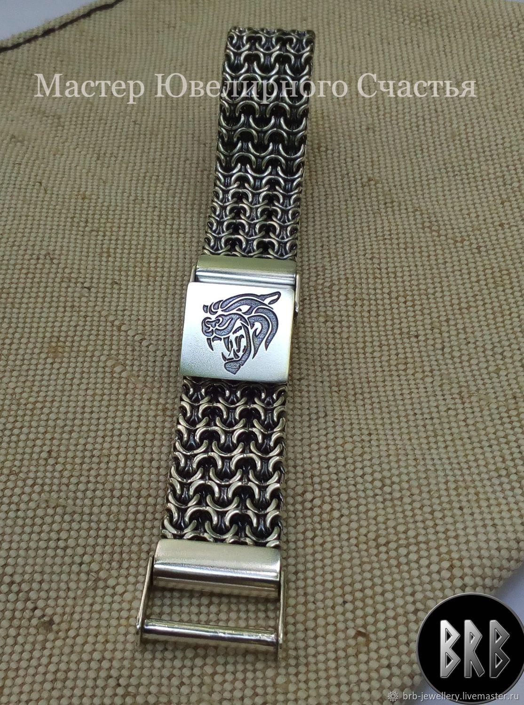 """Браслет """"Тотем Силы"""" серебро 925, Braided bracelet, Penza,  Фото №1"""