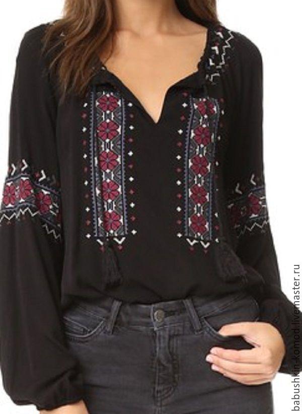 Женская вышитая блузка  ЖР4-092, Блузки, Темрюк,  Фото №1
