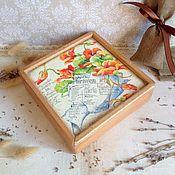 Для дома и интерьера ручной работы. Ярмарка Мастеров - ручная работа Настурции  - коробочка для мелочей. Handmade.