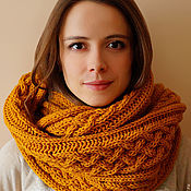 Аксессуары handmade. Livemaster - original item Allen`s knitted Snood scarf