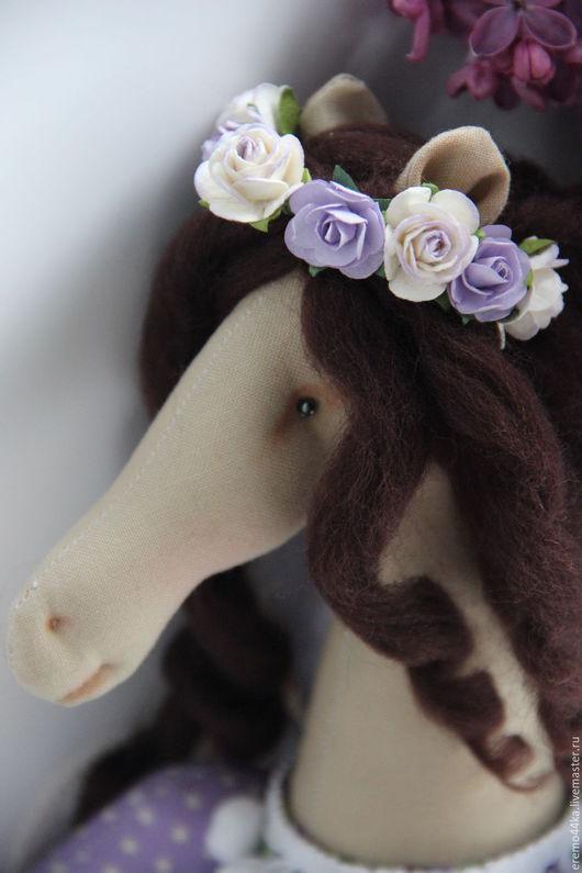 Коллекционные куклы ручной работы. Ярмарка Мастеров - ручная работа. Купить Плыл по городу запах сирени..... Handmade. Сиреневый, лошадка