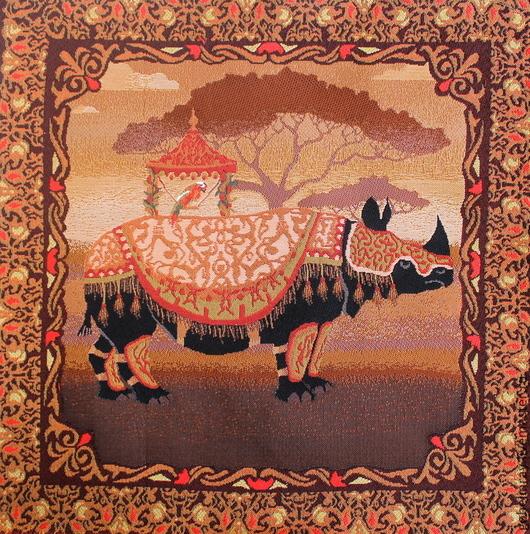 Шитье ручной работы. Ярмарка Мастеров - ручная работа. Купить Восток носорог: гобеленовая заготовка без оверлока, 50-50 см. Handmade.