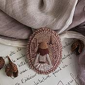 Украшения handmade. Livemaster - original item SPRING PARIS. Felt brooch with embroidery. Handmade.