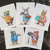 Материалы для творчества handmade. Livemaster - original item Set textile coupons: