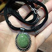 Украшения handmade. Livemaster - original item Silver pendant with jadeite or nephrite jade. Handmade.