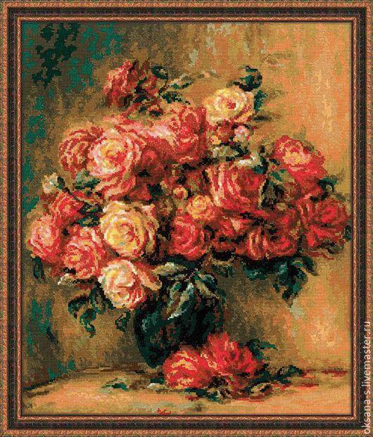 Репродукции ручной работы. Ярмарка Мастеров - ручная работа. Купить Розы. Handmade. Цветы, букет цветов, букет роз, ренуар