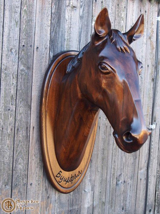 Деревянная голова коня. Купить. Ручная работа.