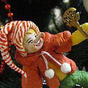Куклы и игрушки ручной работы. Ярмарка Мастеров - ручная работа Буратино - ватная игрушка на ёлку. Handmade.