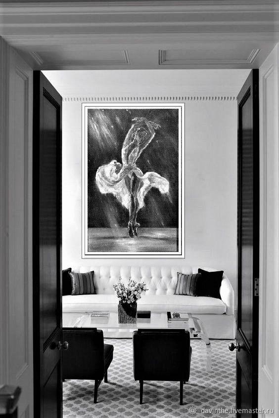 Балерина-Большая картина маслом-Авторская живопись-Оригинал, Картины, Афины,  Фото №1