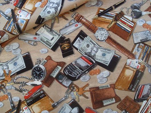 """Шитье ручной работы. Ярмарка Мастеров - ручная работа. Купить Ткань """"Джентльменский набор"""". Handmade. Ткани, американские ткани, джентльмен"""