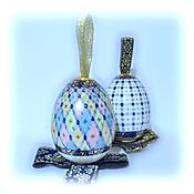 Подарки к праздникам handmade. Livemaster - original item Porcelain egg pendant in the style of