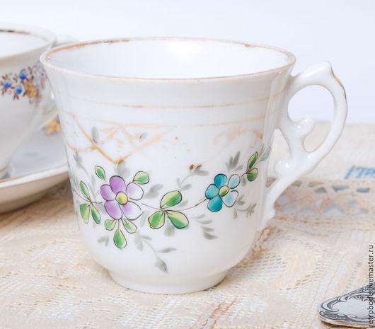 Винтажная посуда. Ярмарка Мастеров - ручная работа. Купить Чашка, кружка фарфор, деколь позолота Кузнецов Рига, старинный фарфор. Handmade.