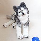 Куклы и игрушки handmade. Livemaster - original item Teddy a Husky puppy. Handmade.