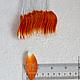Лепестки бело - оранжевые мелкие My Thai Материалы для малбери-флористики из Таиланда