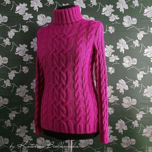 """Кофты и свитера ручной работы. Ярмарка Мастеров - ручная работа. Купить Свитер """"Elle"""". Handmade. Малиновый свитер, розовый цвет"""