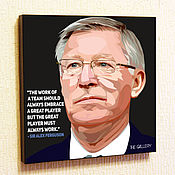 Картины и панно handmade. Livemaster - original item Painting Pop Art Alex Ferguson. Handmade.