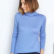 Одежда handmade. Livemaster - original item turtleneck cashmere blue. Handmade.