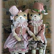 Куклы и игрушки ручной работы. Ярмарка Мастеров - ручная работа Коты Винтажные. Handmade.