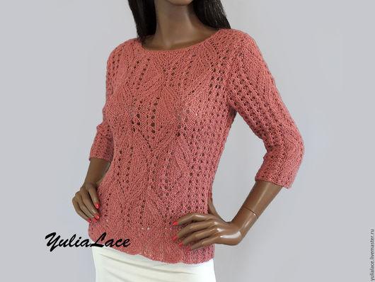 Кофты и свитера ручной работы. Ярмарка Мастеров - ручная работа. Купить Ажурный пуловер из альпаки. Handmade. Кремовый, пуловер женский