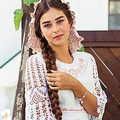 Свадебный салон handmade. Livemaster - original item Boho style wedding dress/ wedding Dress. Handmade.