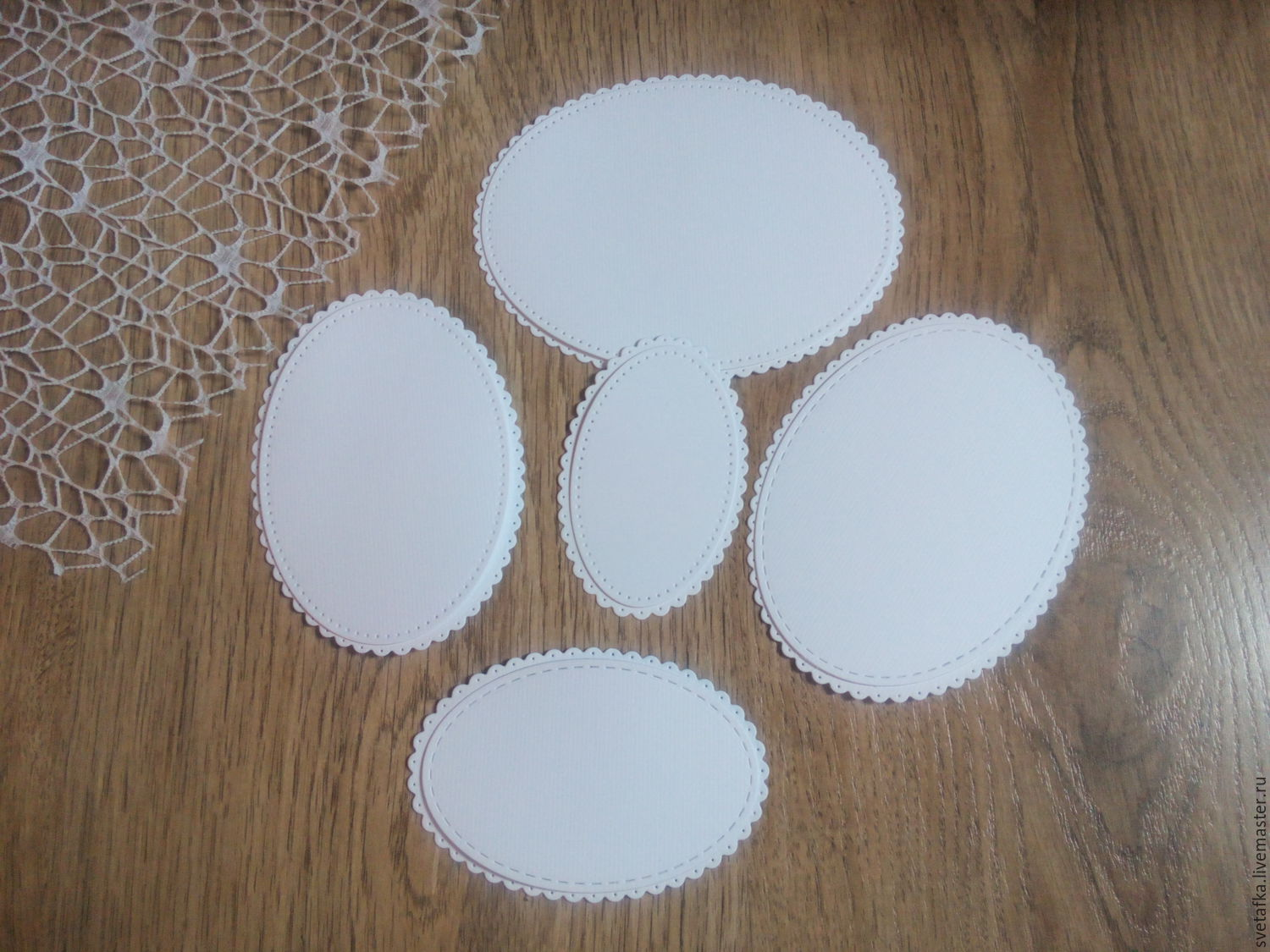 !Cutting for scrapbooking - SCALLOPED OVALS,frames-frames, diz cardboard, Scrapbooking cuttings, Mytishchi,  Фото №1