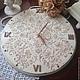 Часы для дома ручной работы. Ярмарка Мастеров - ручная работа. Купить Настенные часы Французская ваниль Шебби-шик. Handmade.