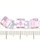Для украшений ручной работы. Ярмарка Мастеров - ручная работа. Купить Кубики из стекла, цвет розовый, размер 6х6мм. Handmade.