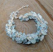 Украшения handmade. Livemaster - original item Bracelet aquamarine