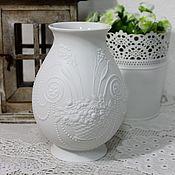 Винтаж ручной работы. Ярмарка Мастеров - ручная работа AK Kaiser ваза, бисквитный фарфор, дизайнер M. Frey 70-е года. Handmade.