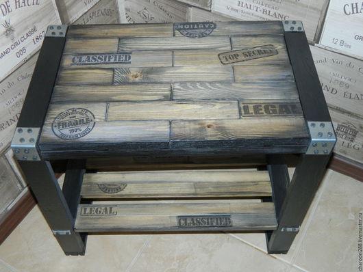 Мебель ручной работы. Ярмарка Мастеров - ручная работа. Купить Стол в стиле лофт. Handmade. Коричневый, стол лофт