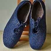 Обувь ручной работы handmade. Livemaster - original item Felted shoes blue. Handmade.