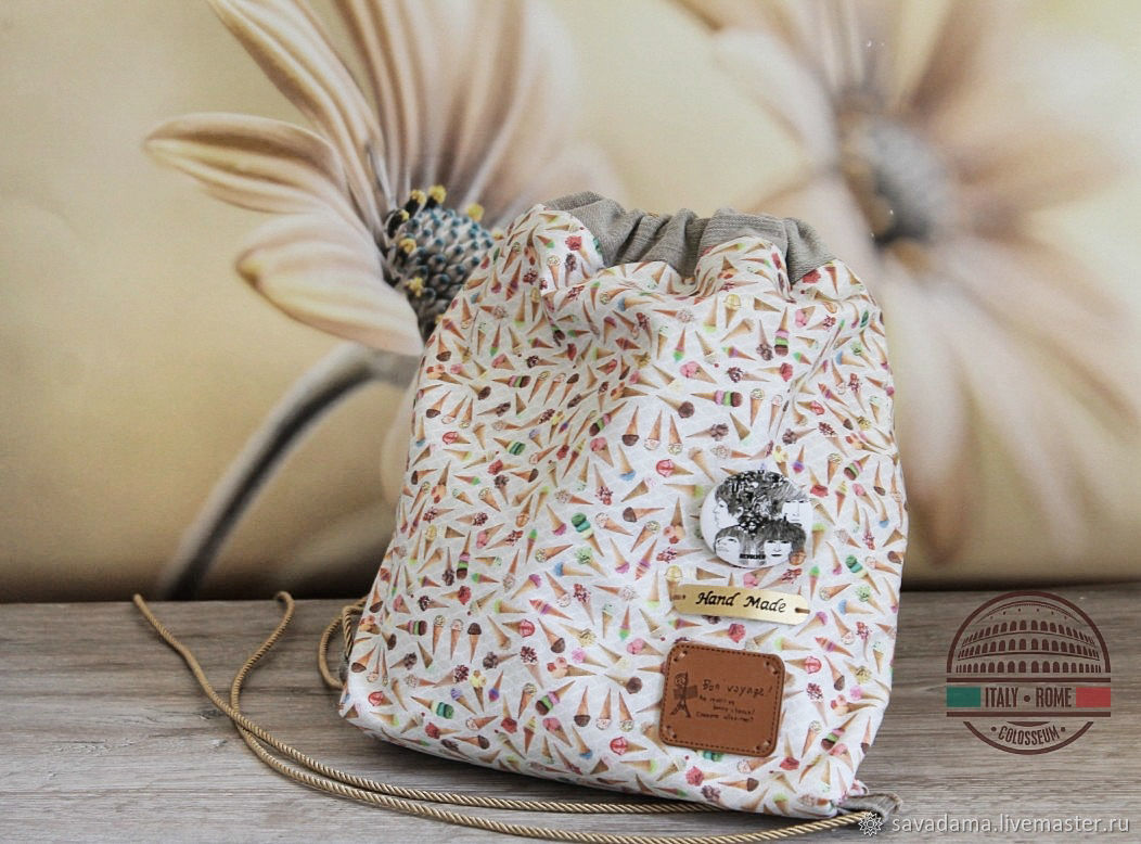 8f112e07d236 Ice cream sweet backpack for the summer or vacation. savadama. Online  Backpacks handmade. Order ...