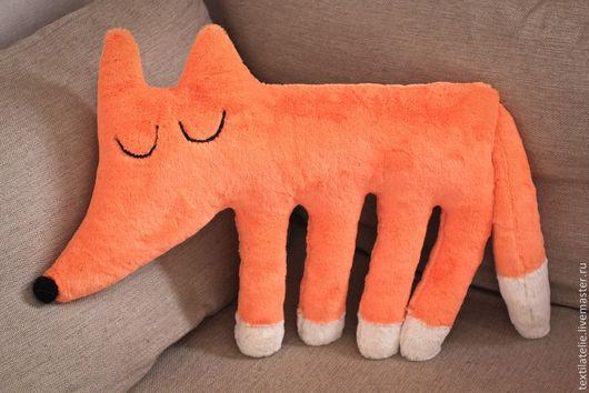 Детская ручной работы. Ярмарка Мастеров - ручная работа. Купить Интерьерная игрушка Спящая лисичка. Handmade. Рыжий, меховая игрушка