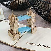 Модели ручной работы. Ярмарка Мастеров - ручная работа Лондон - 3D открытка / сувенир ручной работы. Handmade.
