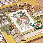 Открытки ручной работы. Ярмарка Мастеров - ручная работа Новогодняя открытка в желтых тонах. Handmade.