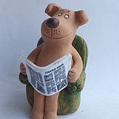 Подарки к праздникам handmade. Livemaster - original item A dog`s life. Ceramic figurines of dogs. Sivol 2018. Handmade.
