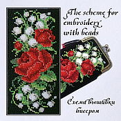 Материалы для творчества handmade. Livemaster - original item The scheme for embroidery with beads, Roses and lilies of the valley. Handmade.