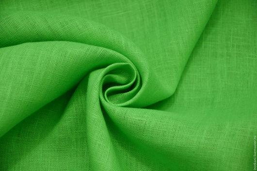 Шитье ручной работы. Ярмарка Мастеров - ручная работа. Купить Лён 100%-ный ярко-зелёный арт.00862. Handmade.
