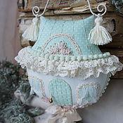Для дома и интерьера handmade. Livemaster - original item The textile house - suspension. Guardian. Mint.. Handmade.