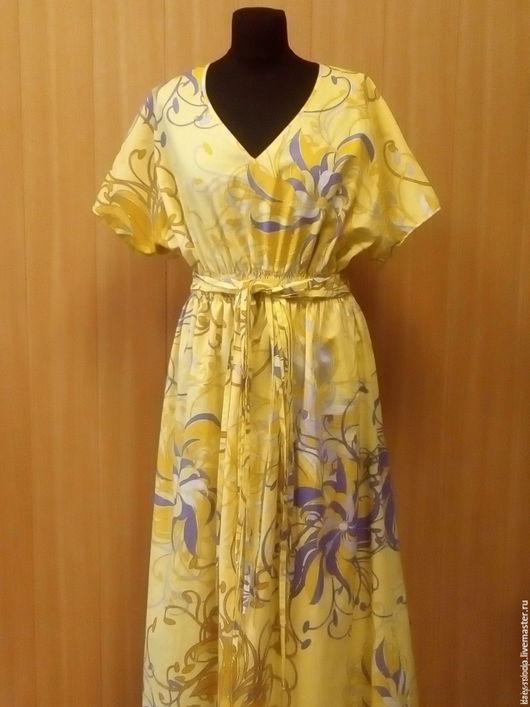 Платья ручной работы. Ярмарка Мастеров - ручная работа. Купить Летнее платье из тонкого батиста на подкладке. Handmade. Лимонный