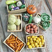 Куклы и игрушки handmade. Livemaster - original item Vegetables, fruits for Dollhouse miniature Food for dolls. Handmade.