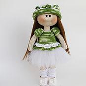Тыквоголовка ручной работы. Ярмарка Мастеров - ручная работа Кукла вязанная, ручной работы, интерьерная кукла. Handmade.
